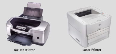 two type of printer Laser or Ink Jet Printer - Computer Upgrades and Repairs.