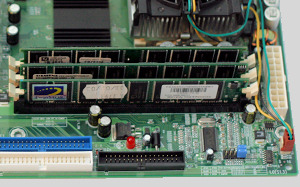 Memory Modules installed in Motherboard.